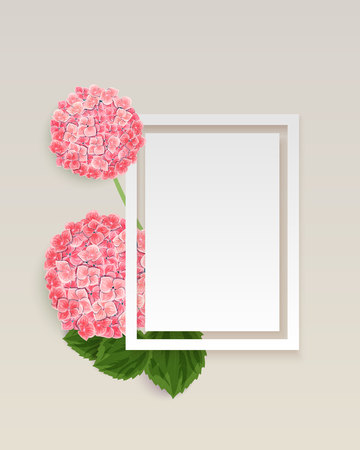 vector frame with flowers for postcard, price tag, flyer