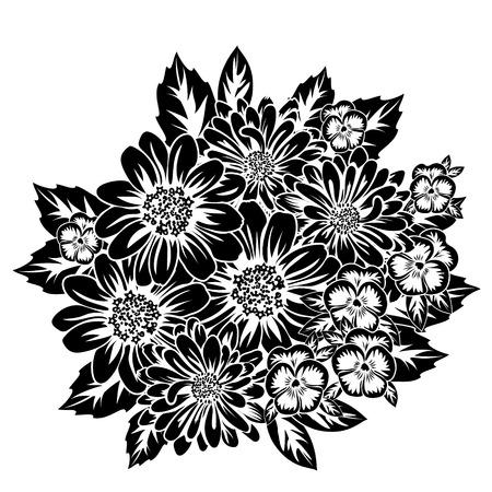 Floral greeting card design.