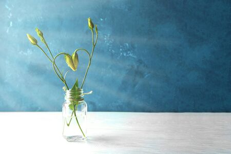 rose flower buds are curved in the form of a heart Banque d'images - 129402154