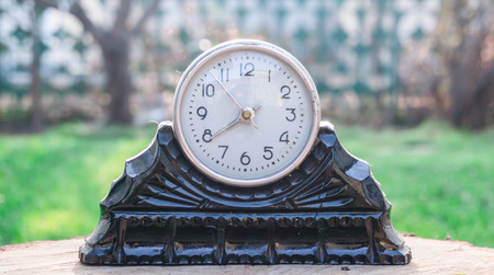 mantel: Mantel clock Stock Photo