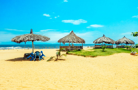 Africa. Sun-drenched beach in Monrovia, Liberia Stock Photo