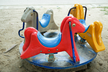 playthings: Childs carousel in the garden