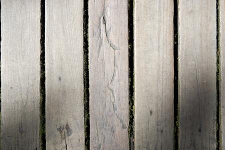 punctuate: Old gray wood pattern take from bridge floor