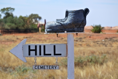 cemetry: Boot Hill Stock Photo