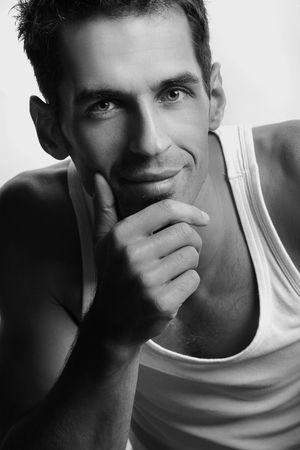 Man posing on white. Stock Photo - 5899601