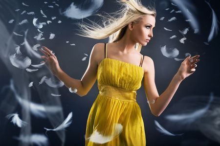 Portrait of a dancing beauty Stock Photo - 5899733
