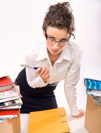Worried secretary photo