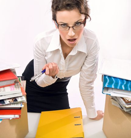 Angry businesswoman Stock Photo - 5970226