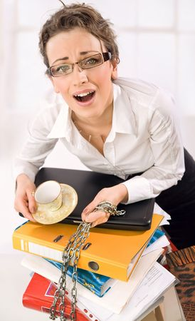Businesswoman screaming Stock Photo - 5970312