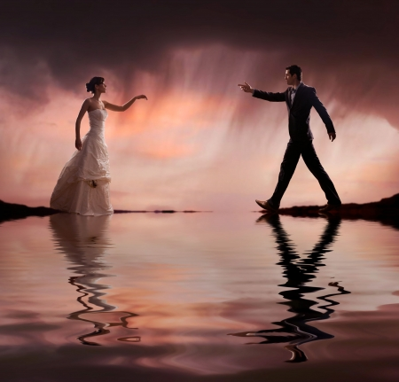 Fine art style wedding photo photo