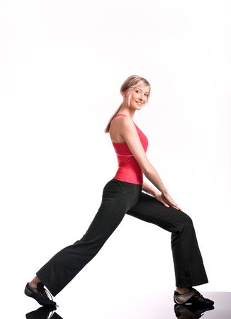 Young woman doing fitness exercise Stock Photo - 7078769
