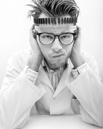 madman: Portrait of a madman scientist