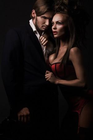 Attractive sexy couple Stock Photo - 8254864