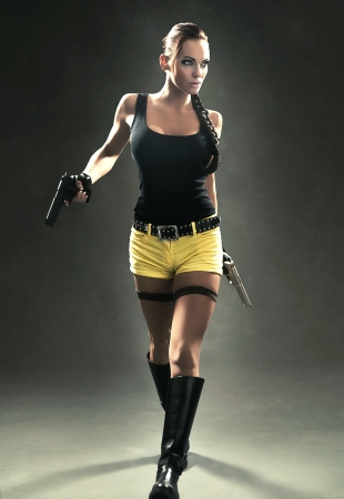 Lara Croft en action