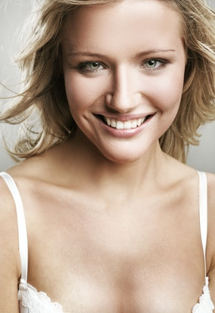 Portrait of a smiling blonde  photo