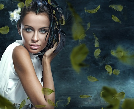 Fantasy glamor portrait of a young beauty Stock Photo - 8531712