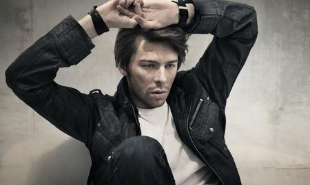 joyless: Handsome man thinking