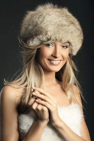Fashion style photo of a attractive blonde  photo