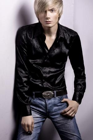 Fashion style photo of a man  photo