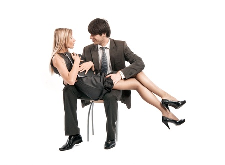 Relationships between boss and secretary Stock Photo - 8531775