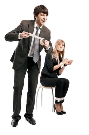 Relationships between boss and secretary Stock Photo - 8531809