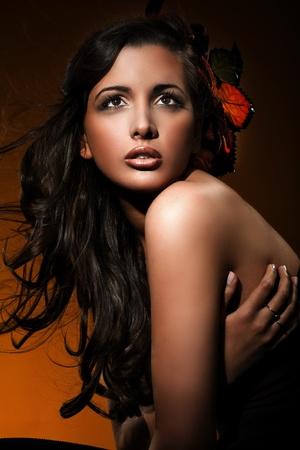 Portrait of an autumn girl Stock Photo - 8532261