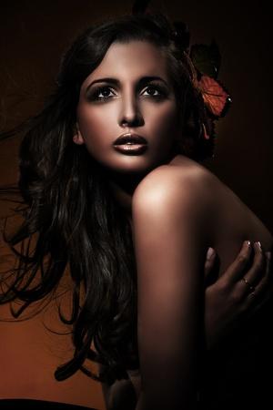 Portrait of an autumn girl  photo