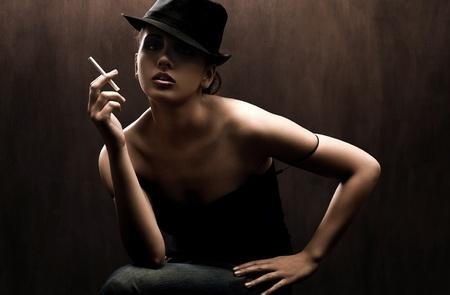 Fine art portrait of a elegant lady photo