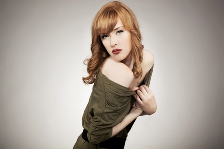 Cute redhead woman  photo