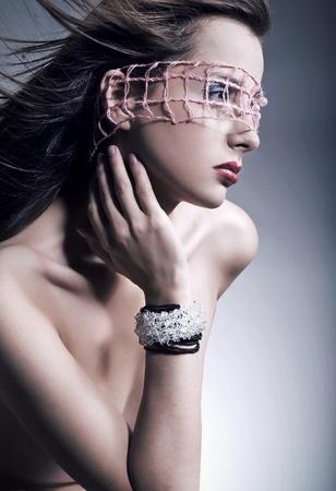 Gorgeous beauty portrait of a young brunette photo