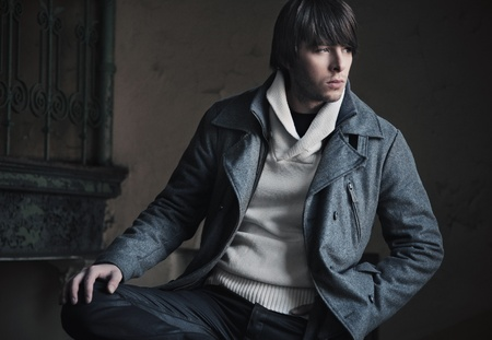 fashion trend: Fashion style of a man Stock Photo