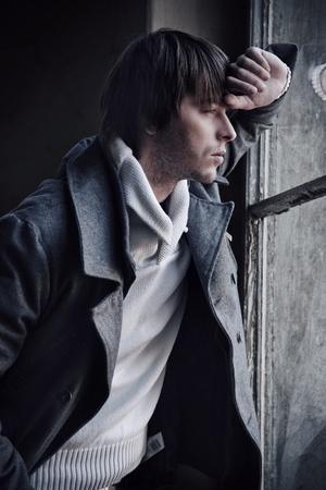 melancholijny: Styl mody mężczyzny Zdjęcie Seryjne