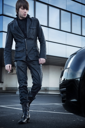 Fashion style of a handsome guy 版權商用圖片