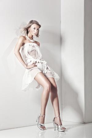 Vogue style of a blond beauty Stock Photo - 8738907