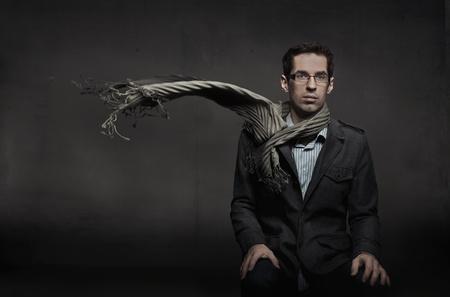 suit  cuff: Portrait of an elegant businessman