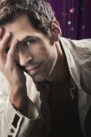 men hair style: Glamour style photo of an attractive man Stock Photo