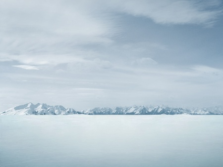 Beautiful winter background , lots of copy-space Stock Photo - 8764350