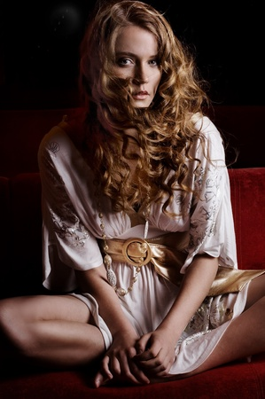 tender tenderness: Fashion style portrait of a beautiful young lady