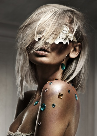 Glamour style photo of beautiful blond woman Stock Photo - 8764584