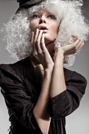 Fashion style portrait of a beautiful woman photo