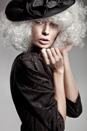 Fashion style portrait of a beautiful woman Stock Photo - 8764587