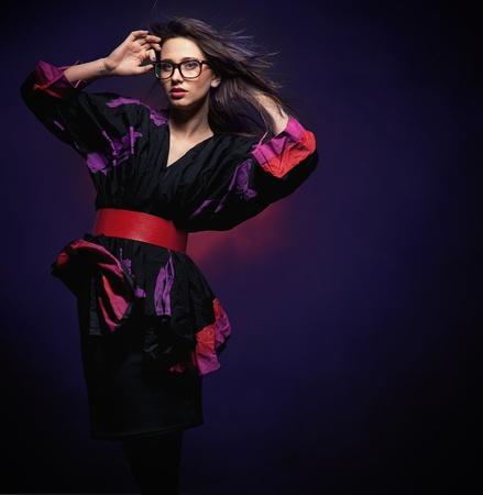 Studio photo of an elegant brunette posing Stock Photo - 8764557