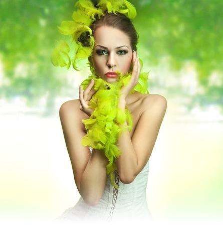 Portrait of a stunning brunette beauty Stock Photo - 8877869