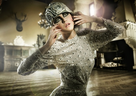 Beautiful lady posing in a vintage interior Stock Photo - 8877849