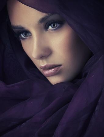 Portrait of a young beauty, plenty of copy-space photo