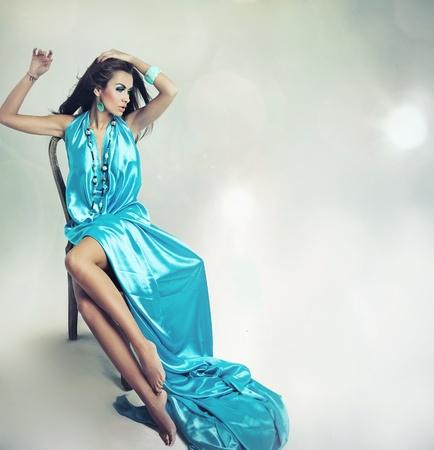 Stunning brunette posing photo