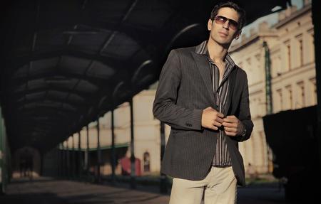 Fashion style photo of an elegant man photo