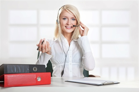 Young businesswoman working photo