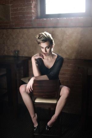 Portrait of a cute blonde lady photo