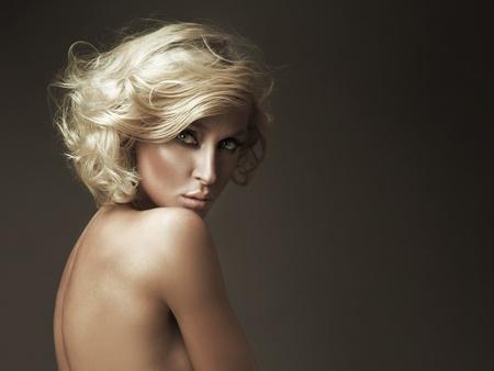 Beautiful nude blonde beauty posing Stock Photo - 9064728